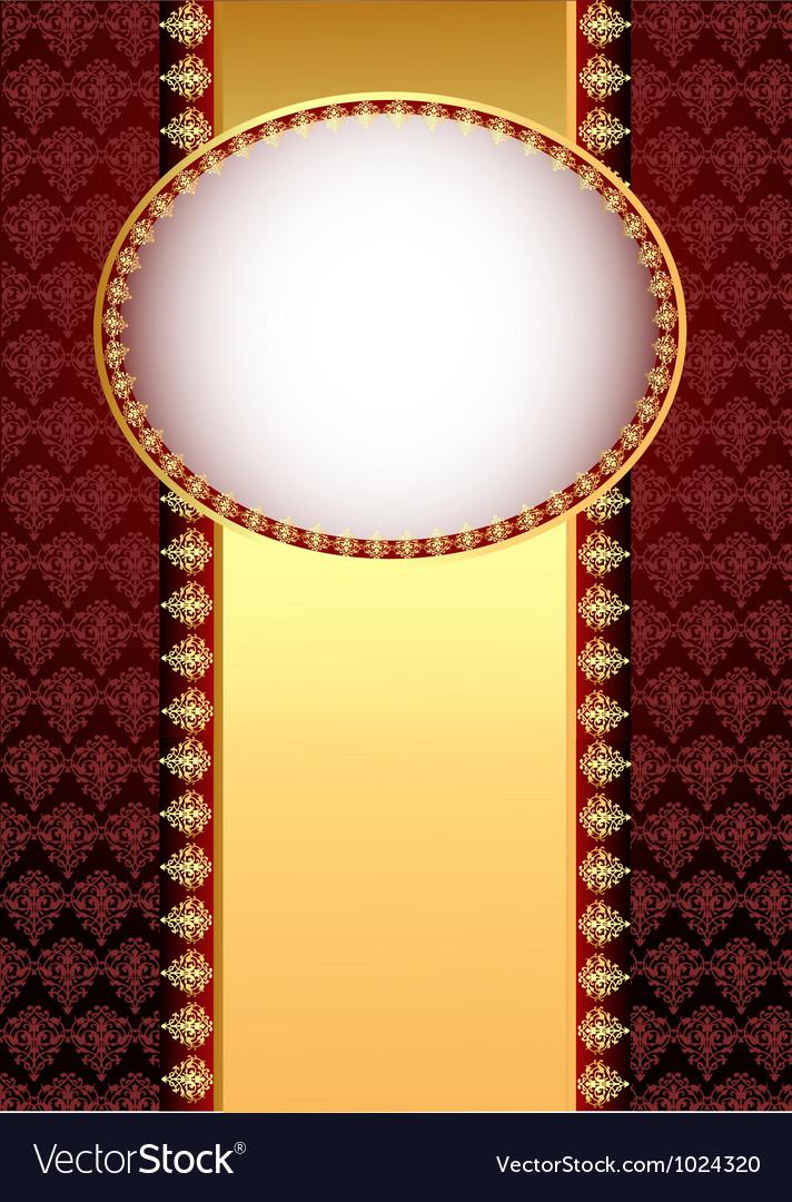 Vintage brown floral background vector | Price: 1 Credit (USD $1)