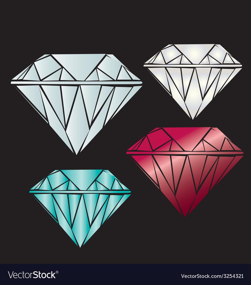 A realistic diamond vector | Price: 1 Credit (USD $1)