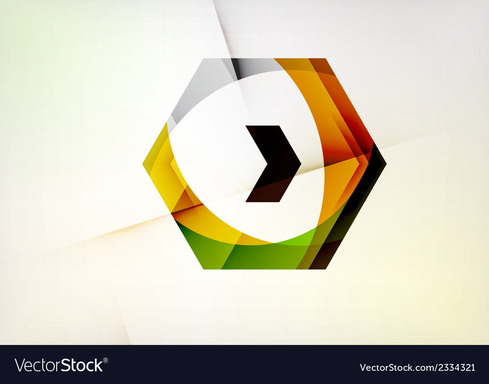 Arrow geometric shape abstract business background vector | Price: 1 Credit (USD $1)