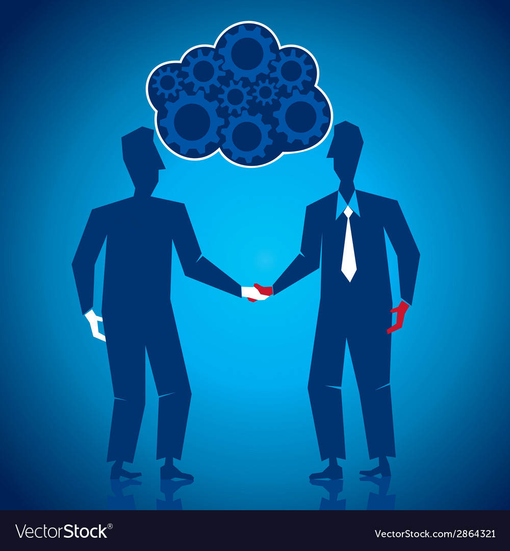 Both businessmen shake hand vector | Price: 1 Credit (USD $1)