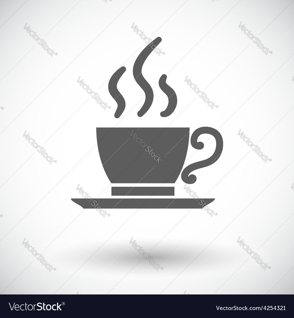 Cafe single icon vector | Price: 1 Credit (USD $1)