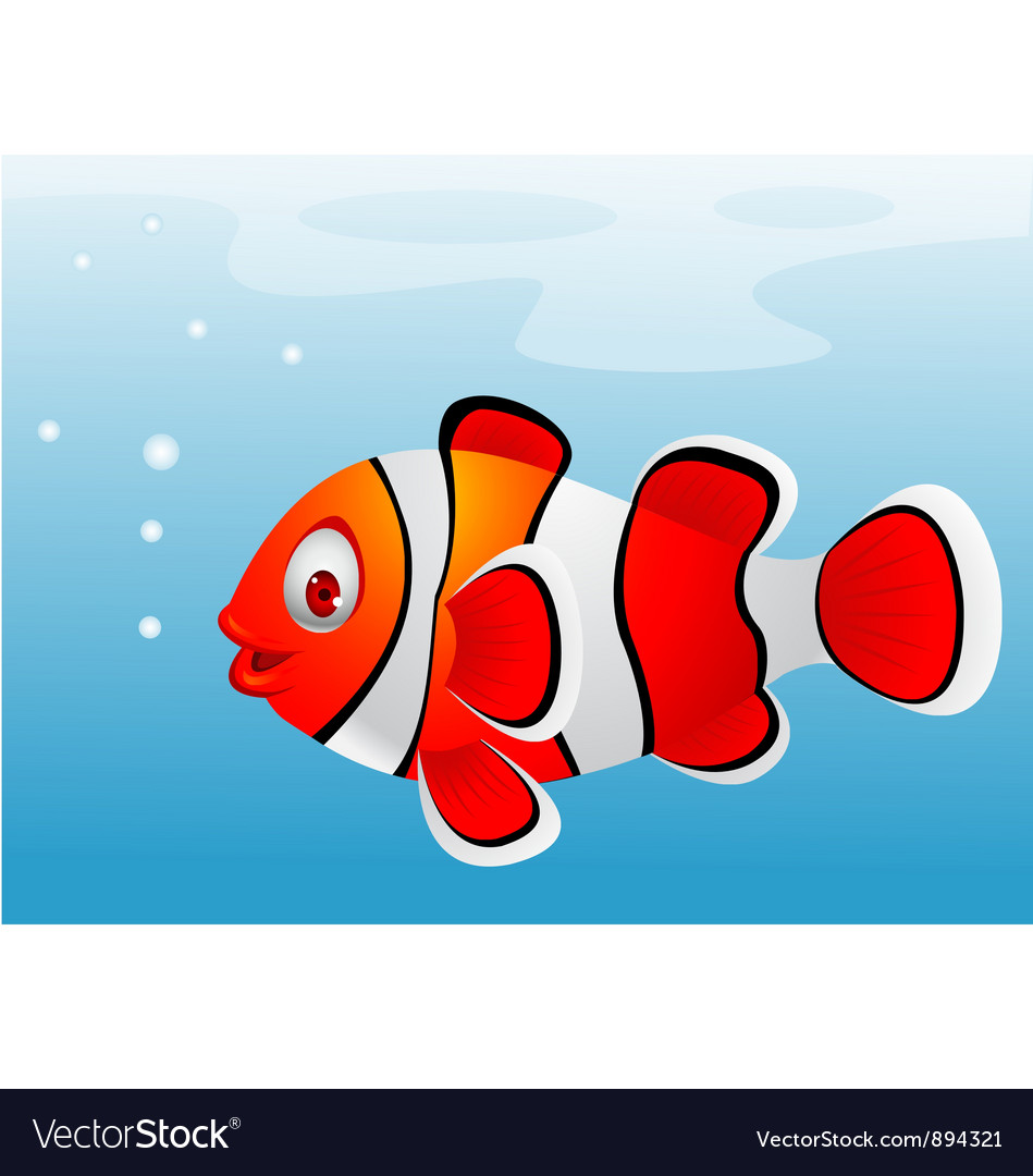 Clown fish cartoon vector | Price: 3 Credit (USD $3)