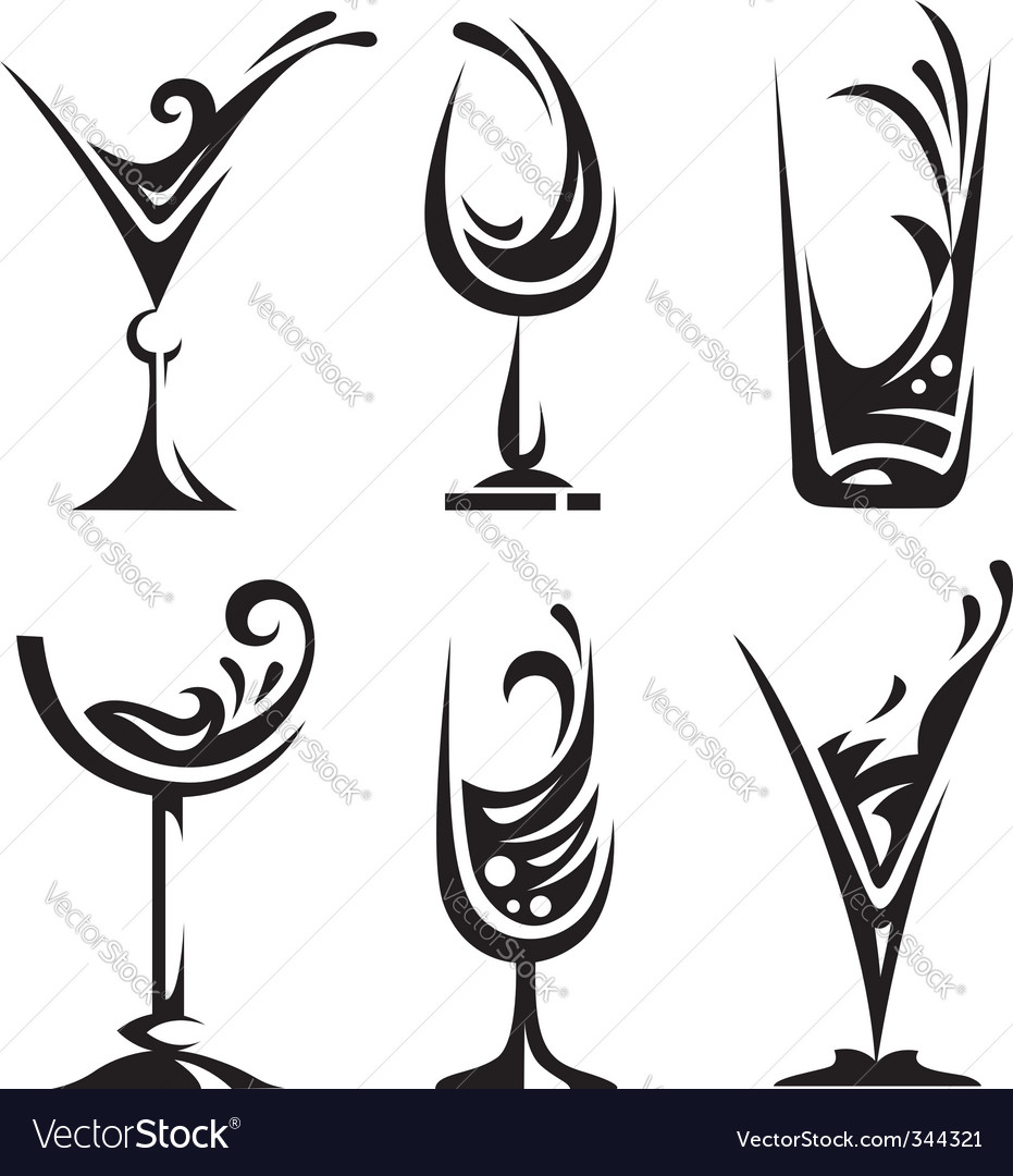Drinking glass collection vector | Price: 1 Credit (USD $1)