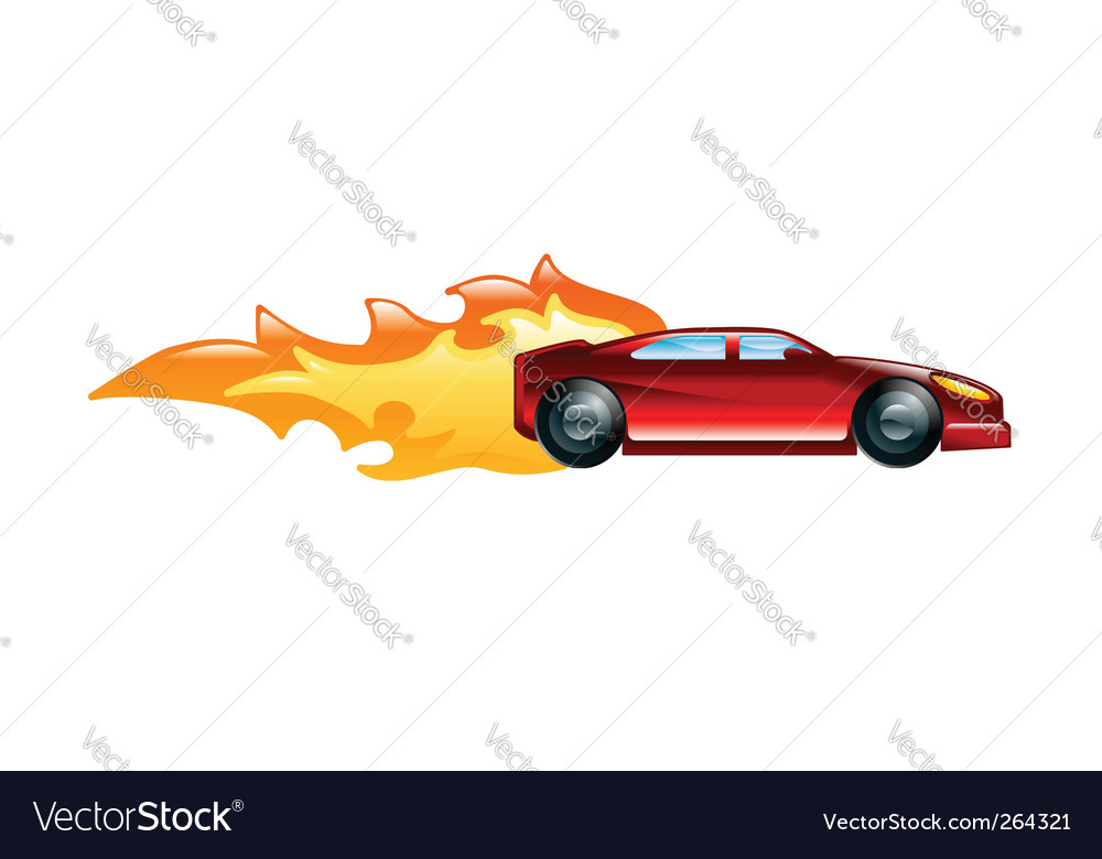 Fast car vector | Price: 1 Credit (USD $1)