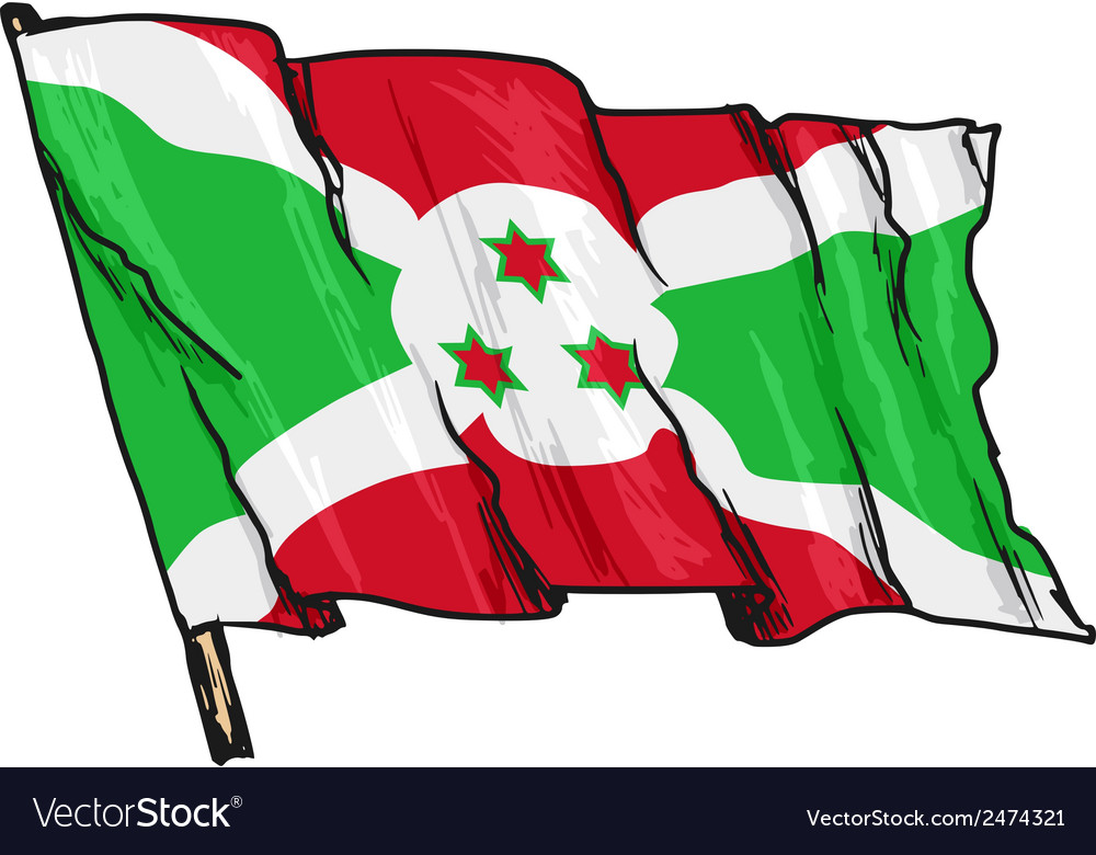 Flag of burundi vector   Price: 1 Credit (USD $1)