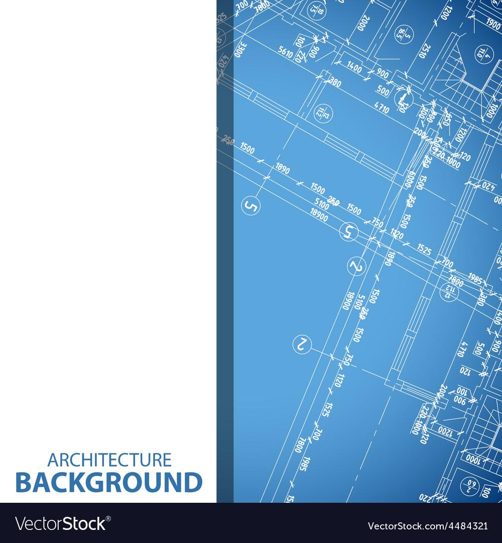 New blueprint building plan background vector | Price: 1 Credit (USD $1)
