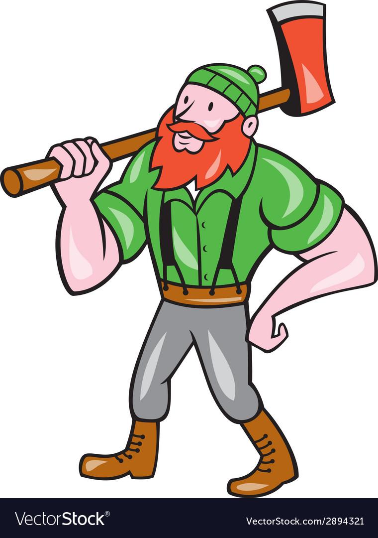 Paul bunyan lumberjack isolated cartoon vector | Price: 1 Credit (USD $1)