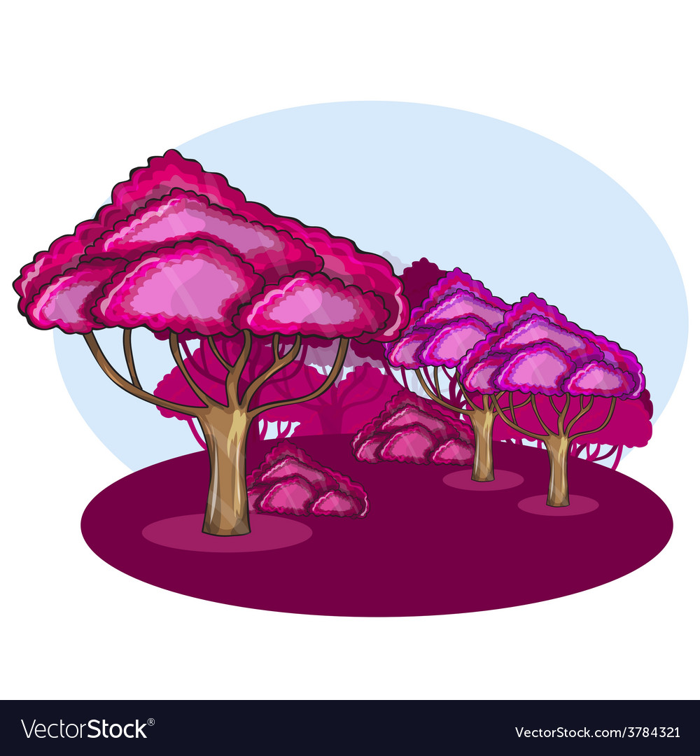 Pink wood against a cloud vector | Price: 1 Credit (USD $1)
