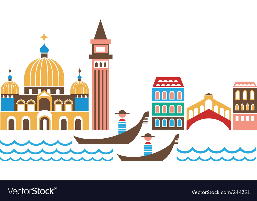 Venice landmarks vector | Price: 1 Credit (USD $1)