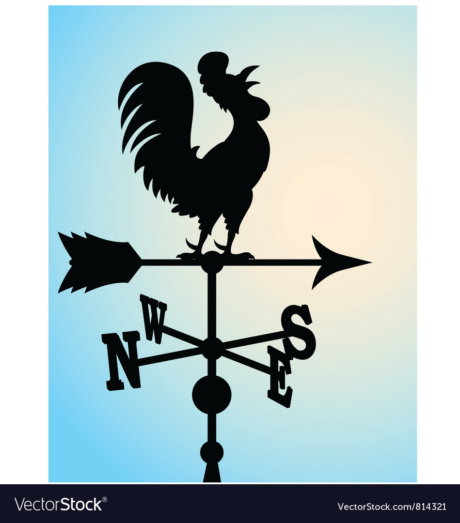 Weather vane silhouette vector | Price: 1 Credit (USD $1)