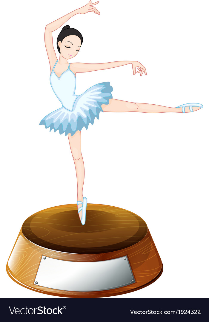 A ballerina dancer above the empty label vector | Price: 1 Credit (USD $1)
