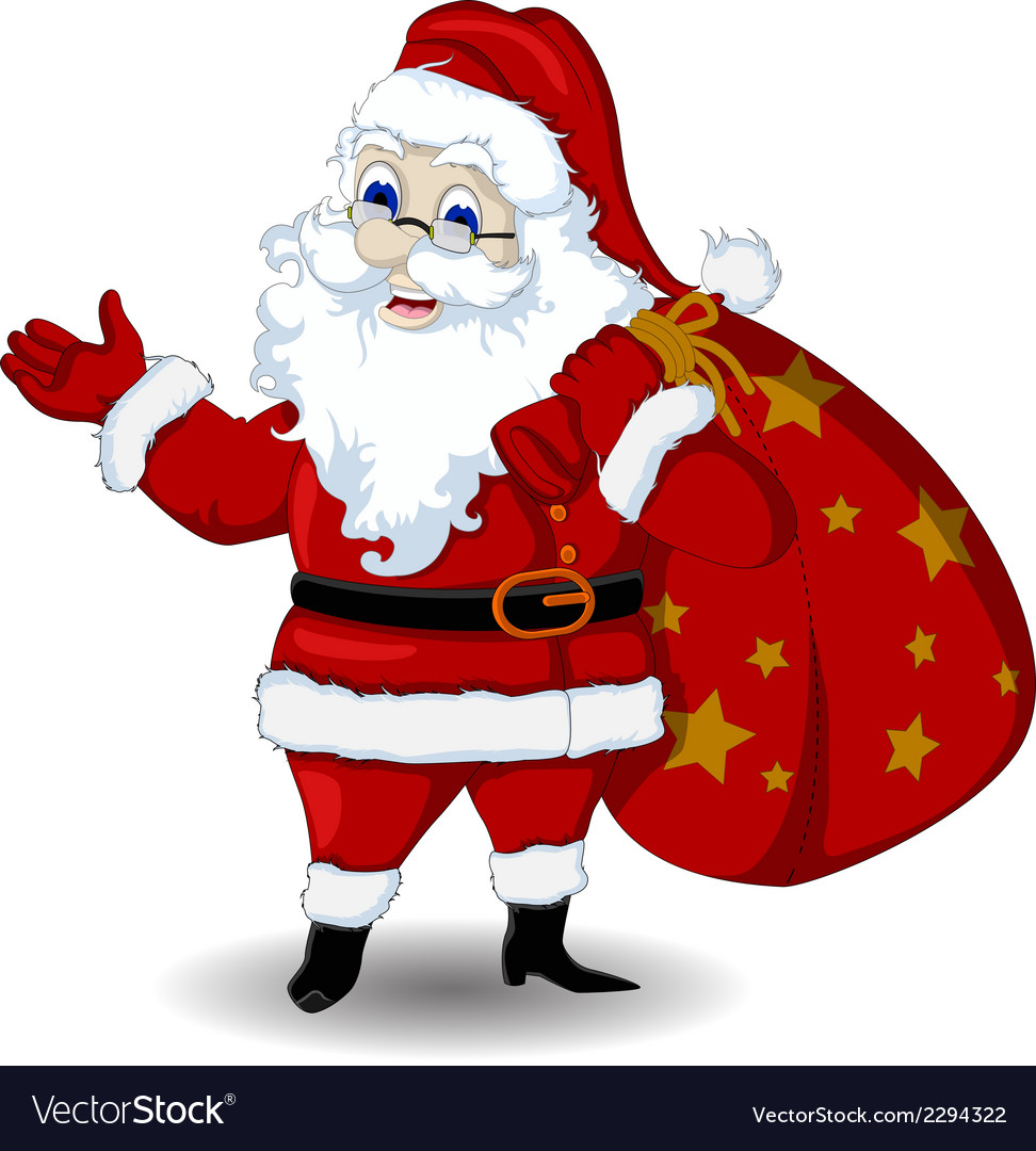 Happy santa claus cartoon for you design vector | Price: 1 Credit (USD $1)