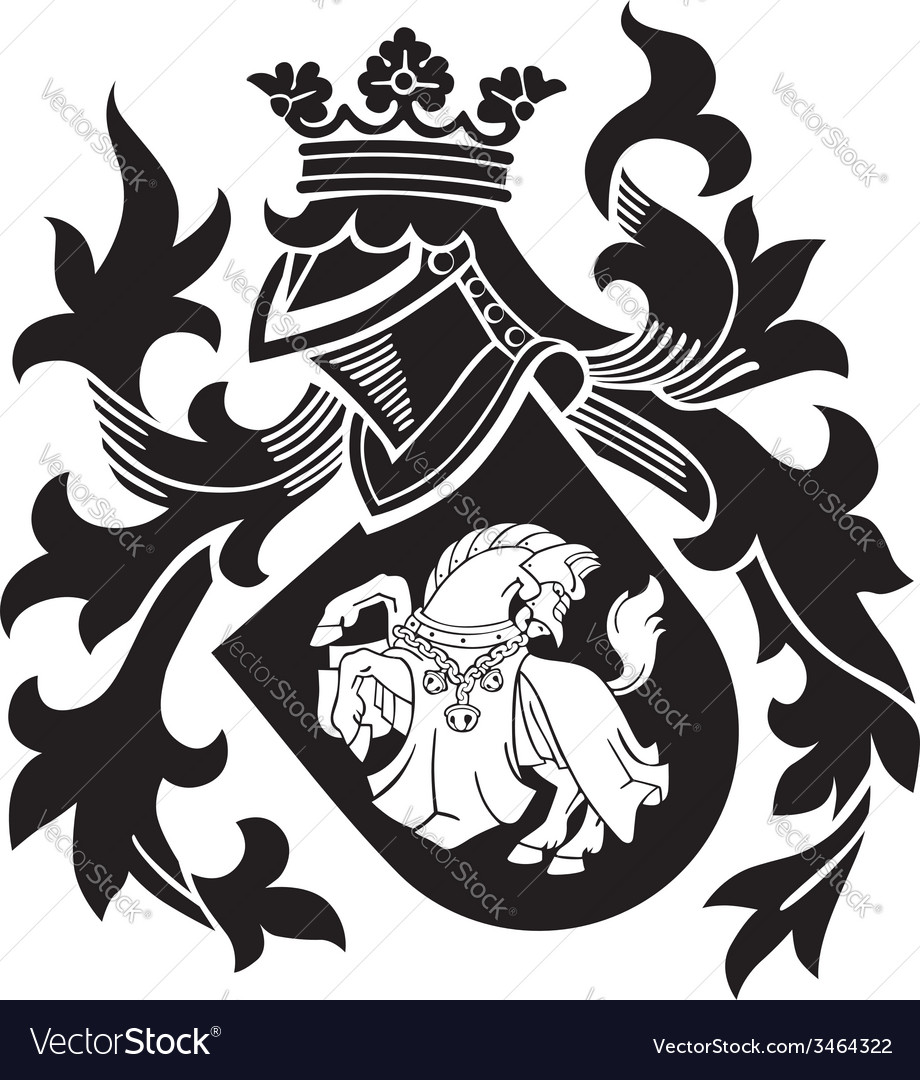 Heraldic silhouette no25 vector | Price: 1 Credit (USD $1)
