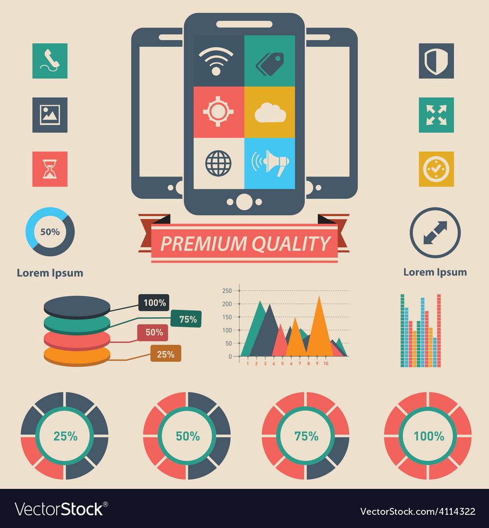 Phone infographic vector