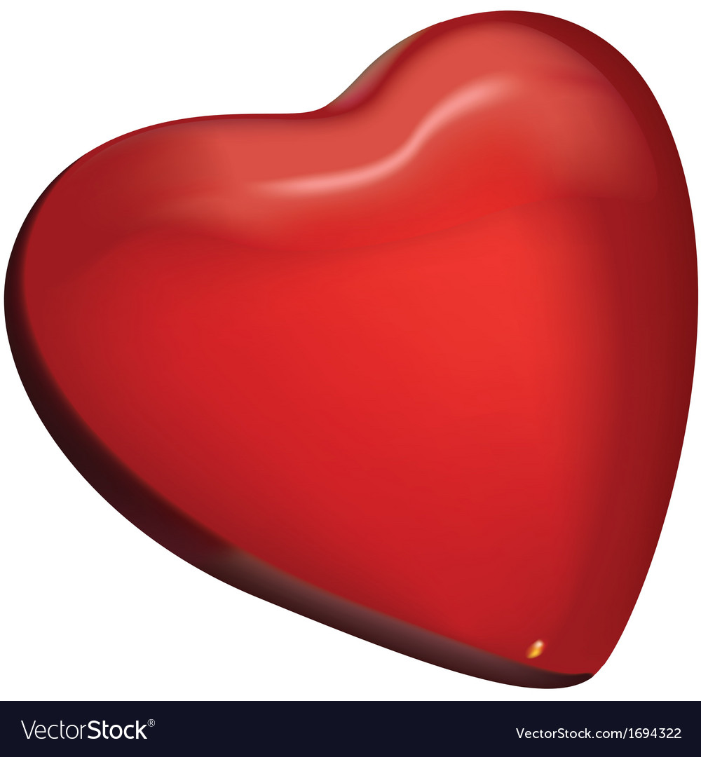 Red glass heart vector | Price: 1 Credit (USD $1)