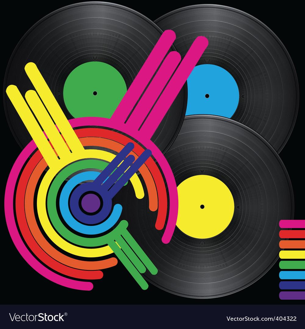 Retro music background vector   Price: 1 Credit (USD $1)