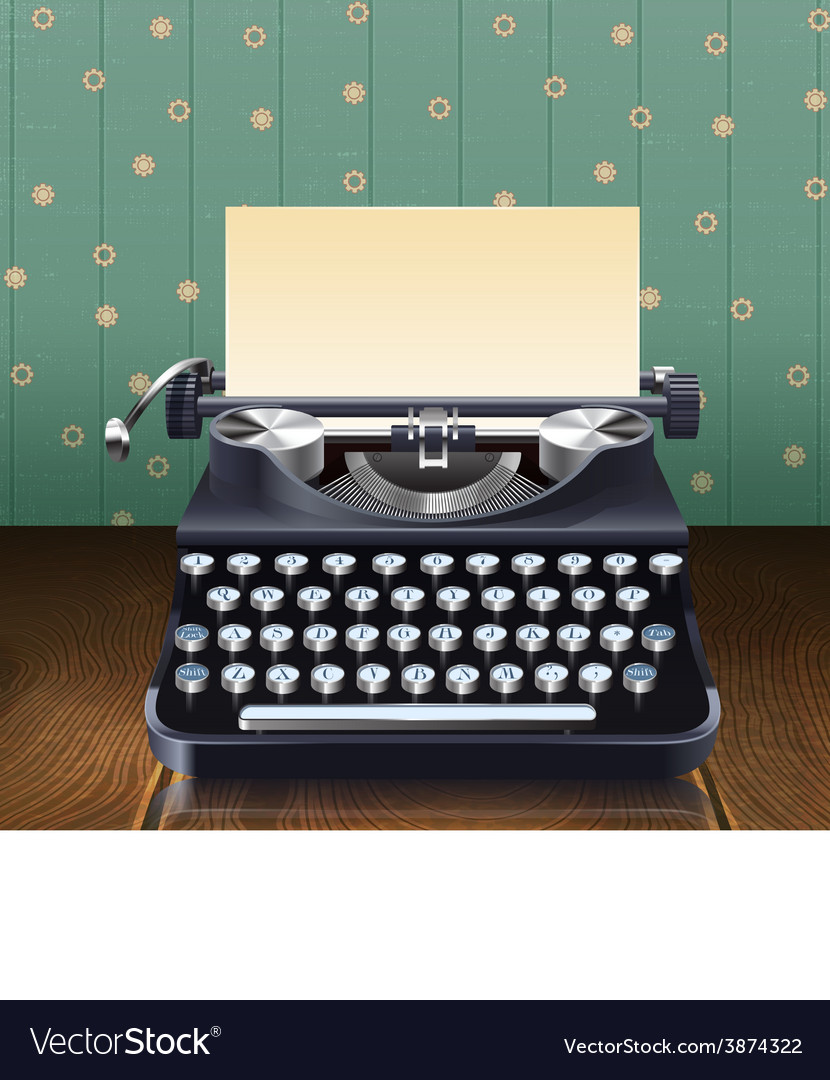 Retro style typewriter vector | Price: 1 Credit (USD $1)
