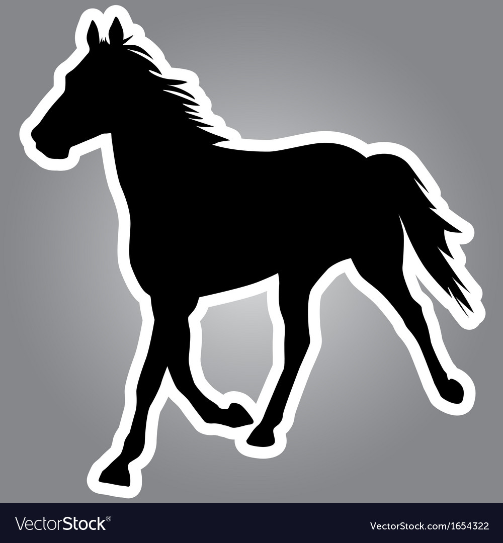 Silhouette of horse vector | Price: 1 Credit (USD $1)