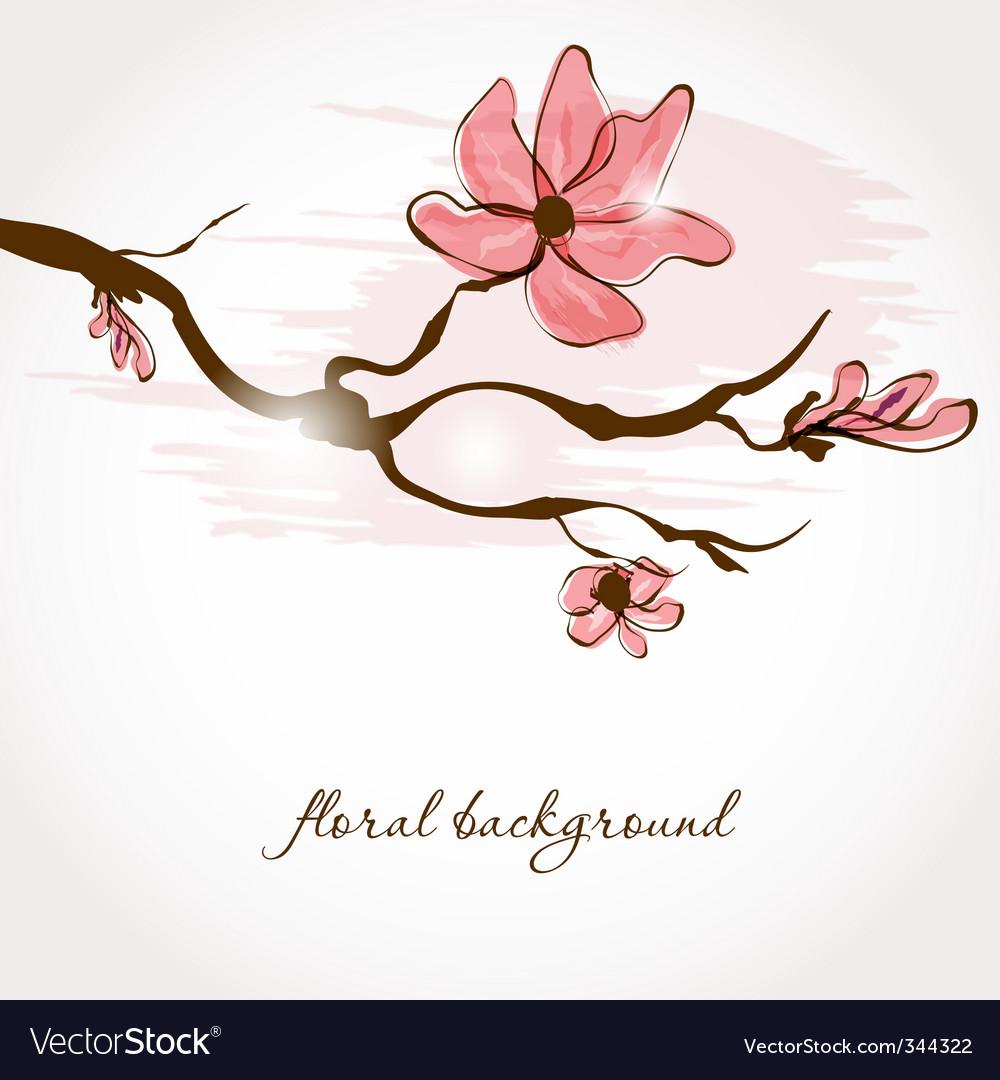 Spring branch vector | Price: 1 Credit (USD $1)