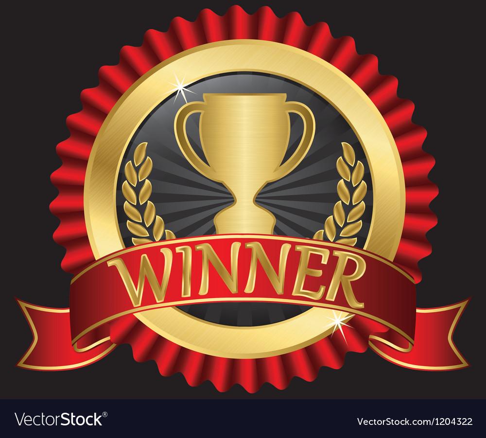 Winner gold label vector | Price: 3 Credit (USD $3)