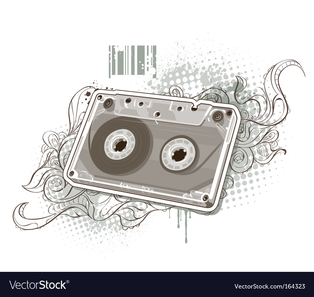 Audio tape vector | Price: 3 Credit (USD $3)