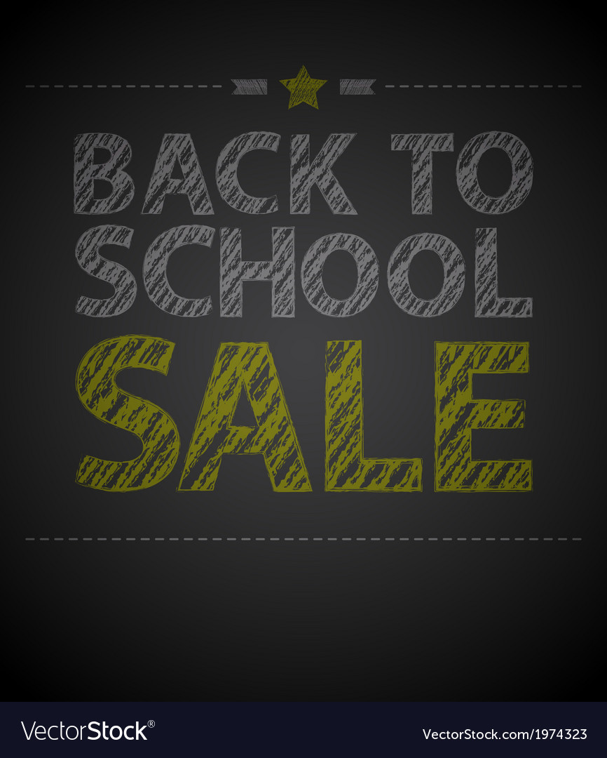 Back to school poster with text on chalkboard vector | Price: 1 Credit (USD $1)