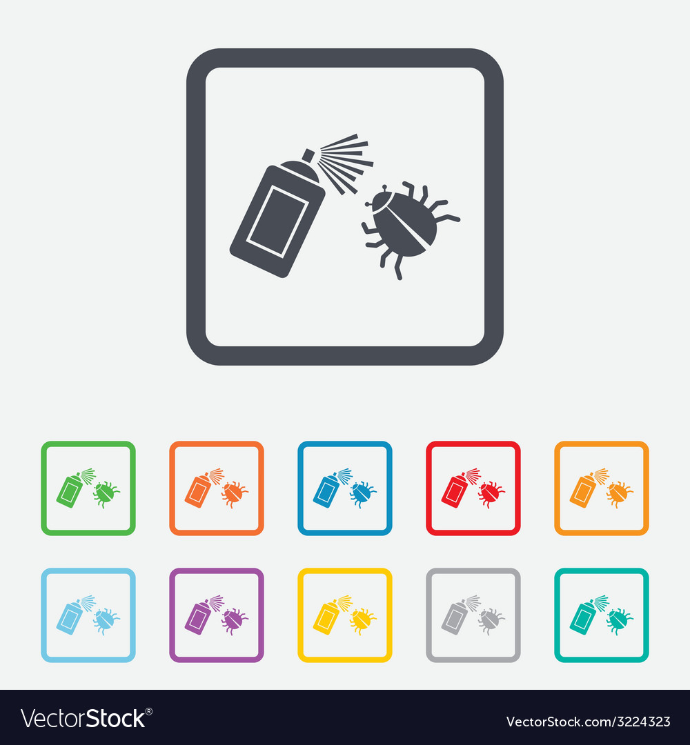 Bug disinfection sign icon fumigation symbol vector | Price: 1 Credit (USD $1)