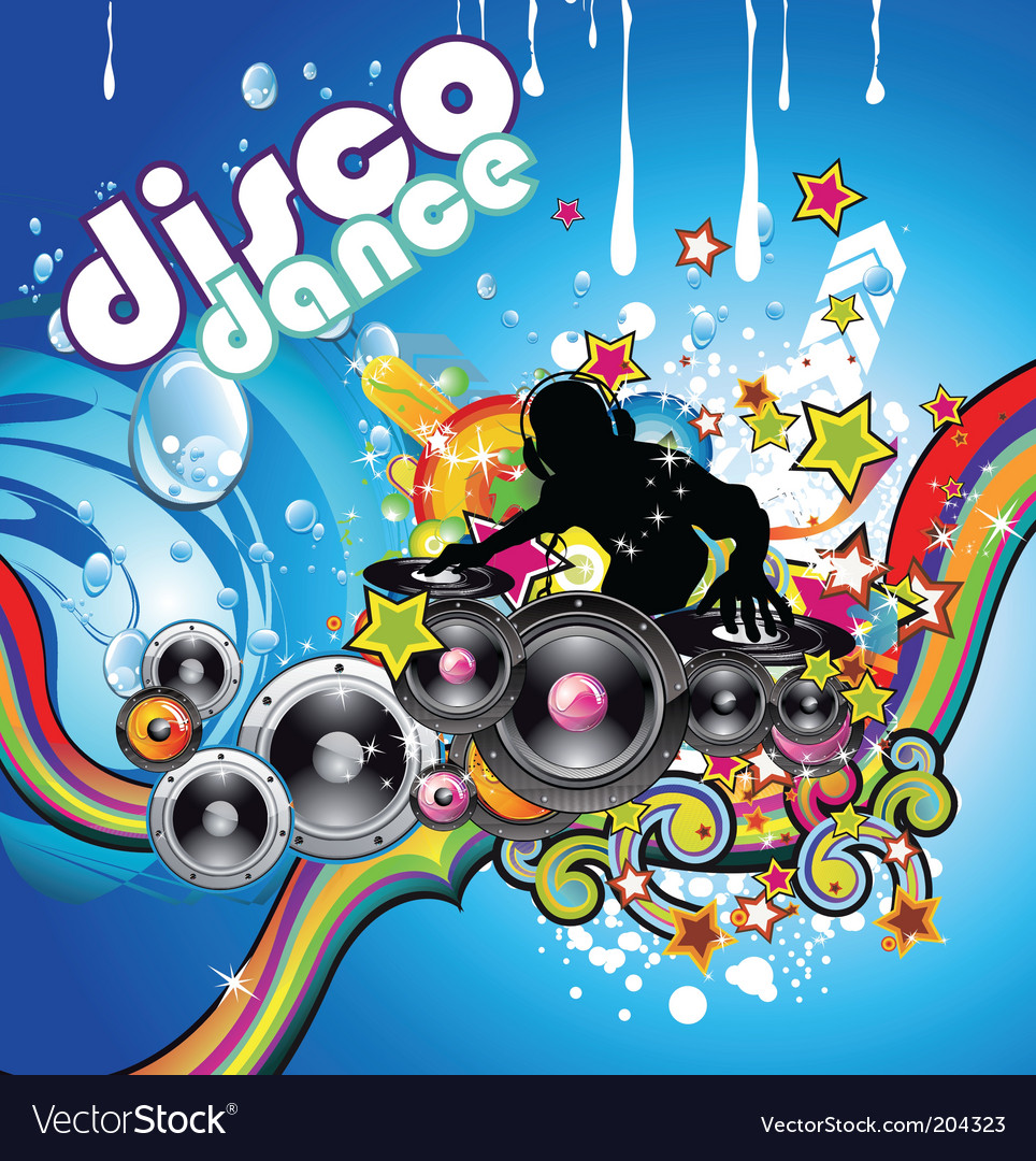 Discotheque colorful background vector | Price: 3 Credit (USD $3)