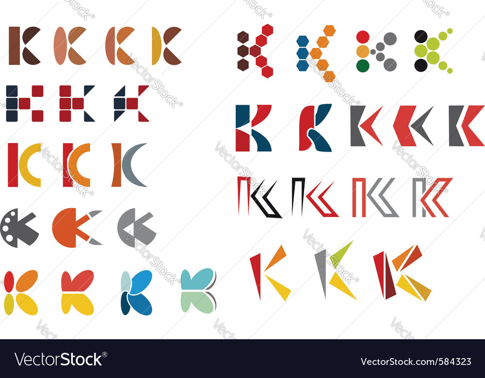 K alphabet symbols vector | Price: 1 Credit (USD $1)
