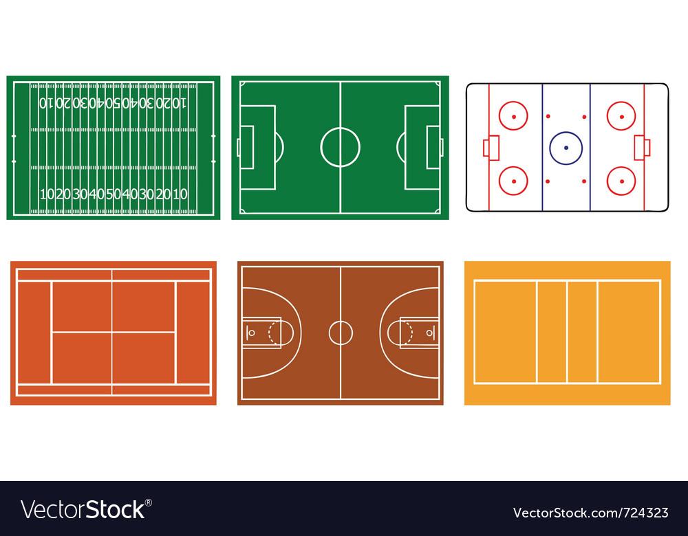 Sport field vector | Price: 1 Credit (USD $1)