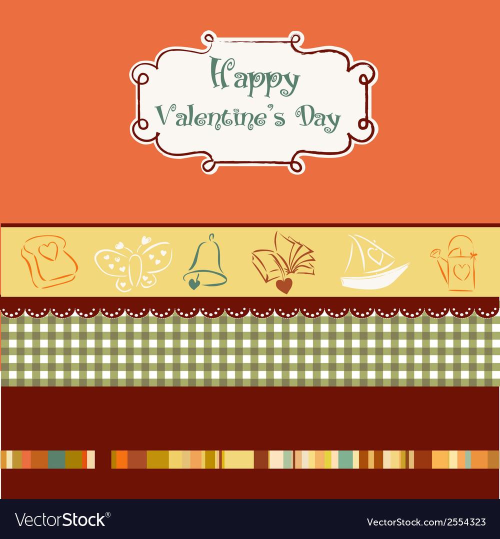 Vintage valentines day card vector | Price: 1 Credit (USD $1)