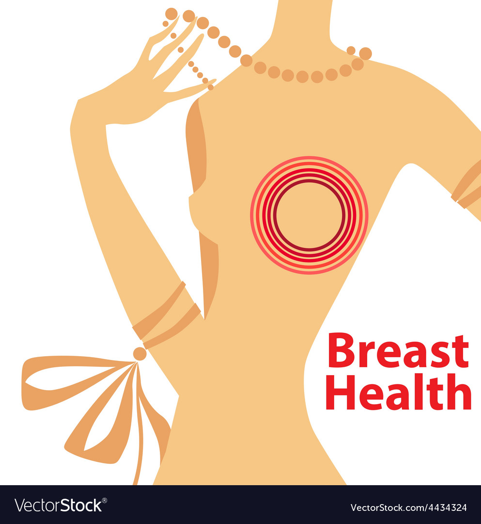 Breast health vector | Price: 1 Credit (USD $1)