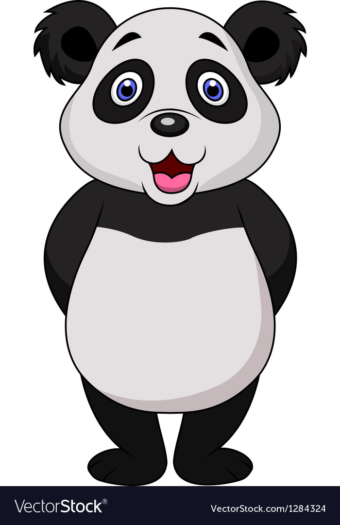 Cute panda cartoon vector | Price: 3 Credit (USD $3)