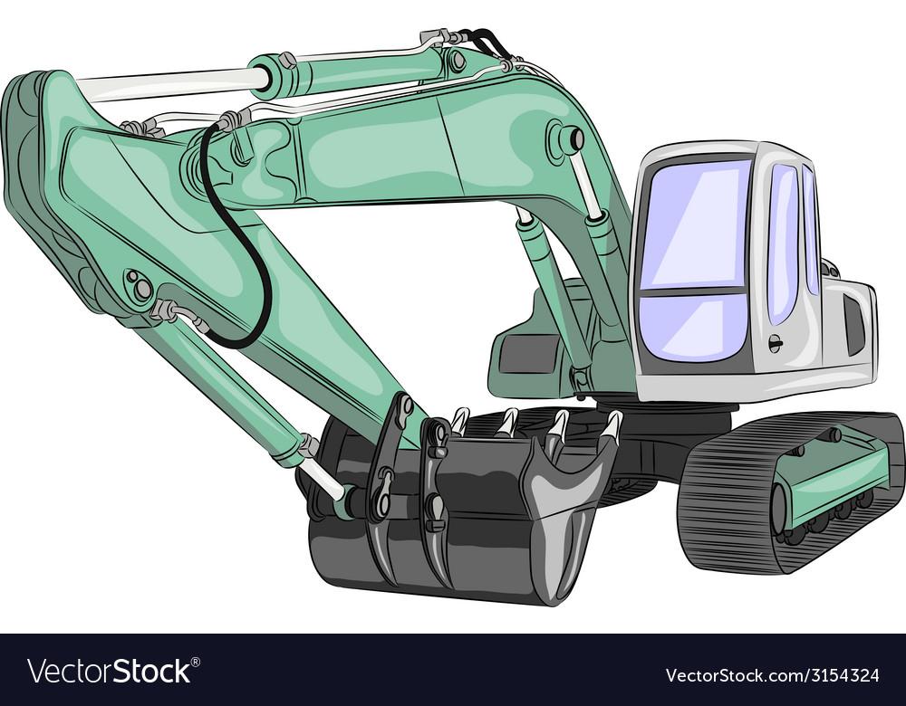 Excavator a vector | Price: 1 Credit (USD $1)