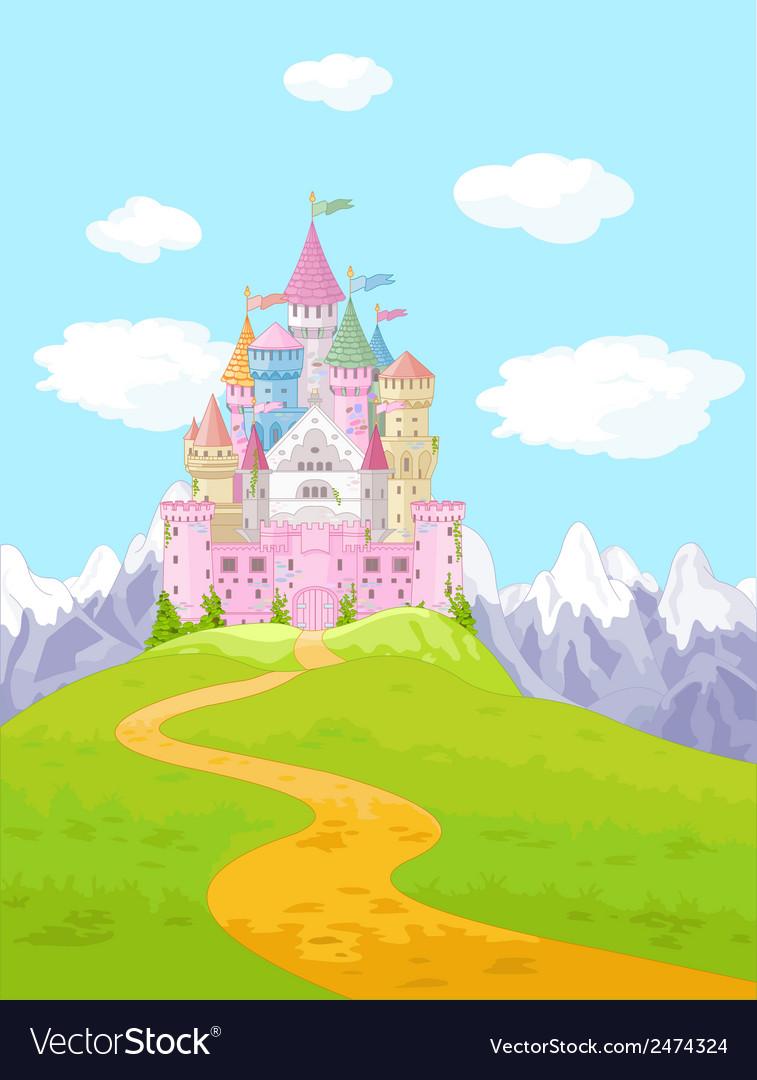 Fairy tale castle landscape vector | Price: 1 Credit (USD $1)