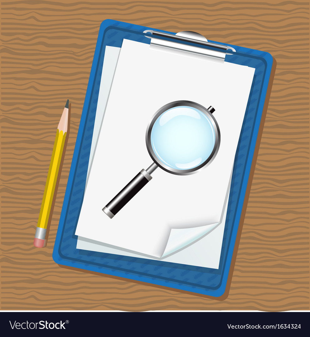 Folder magnifier and pencil vector | Price: 1 Credit (USD $1)