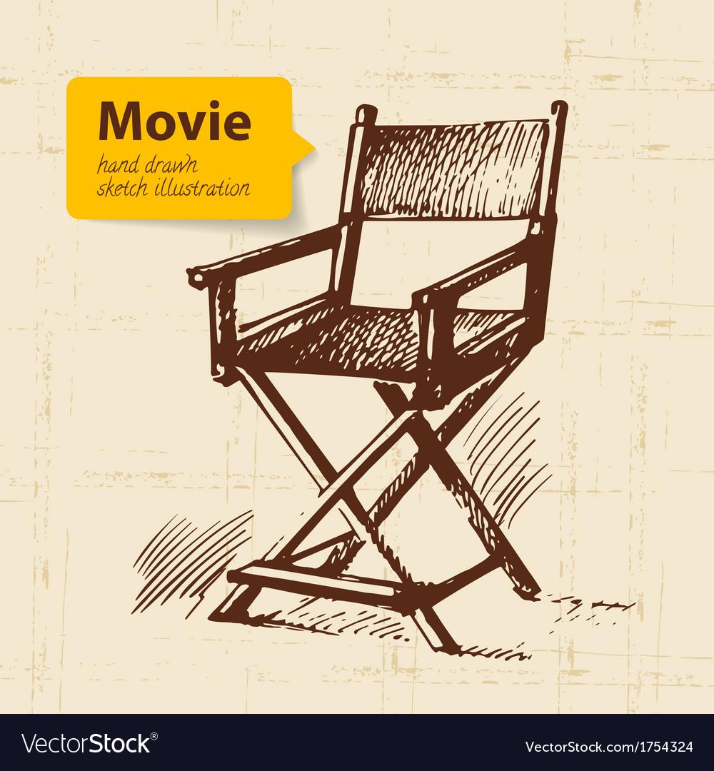 Hand drawn movie sketch background vector | Price: 1 Credit (USD $1)