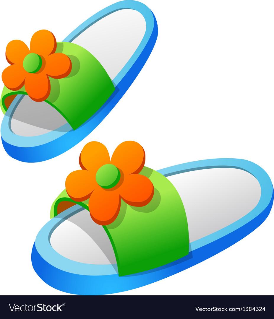 Icon slipper vector | Price: 1 Credit (USD $1)