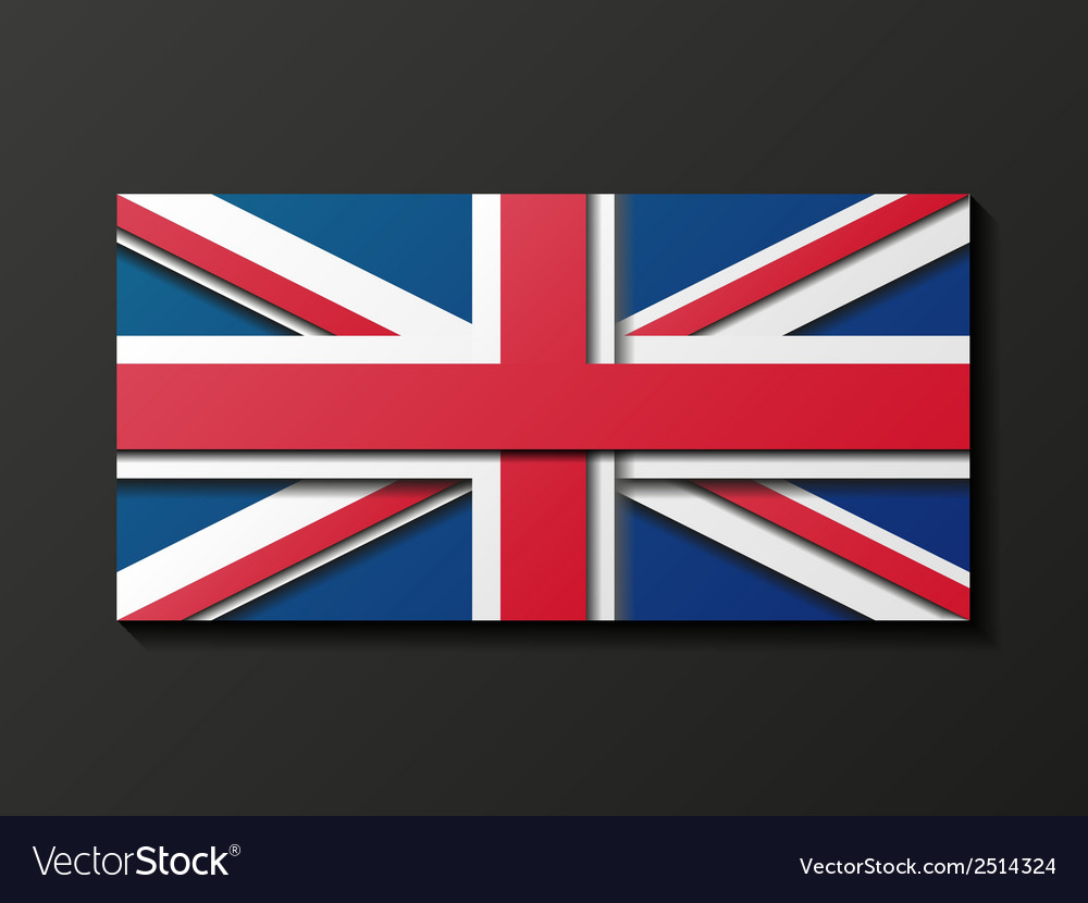 Modern style great britain flag vector | Price: 1 Credit (USD $1)