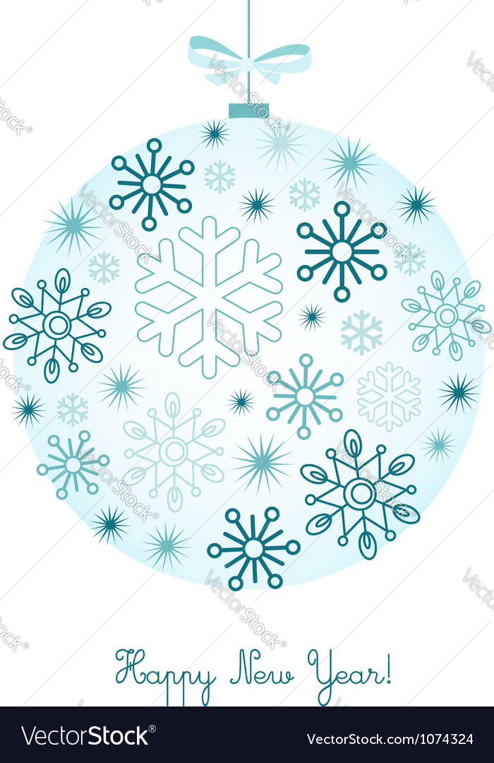 New year background with snowflakes vector | Price:  Credit (USD $)