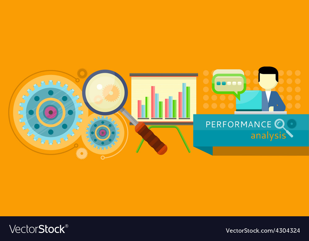 Performance analysis concept vector | Price: 1 Credit (USD $1)