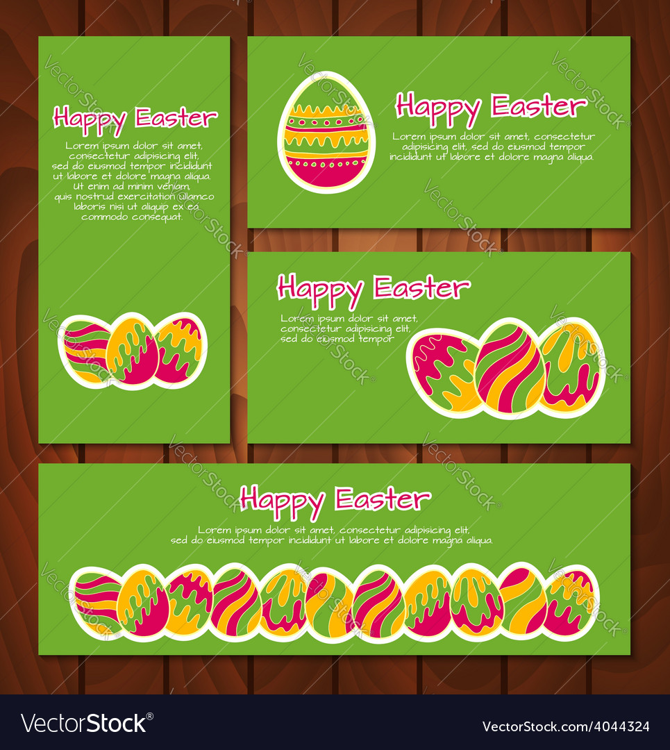 Set of easter cards and banners vector | Price: 1 Credit (USD $1)