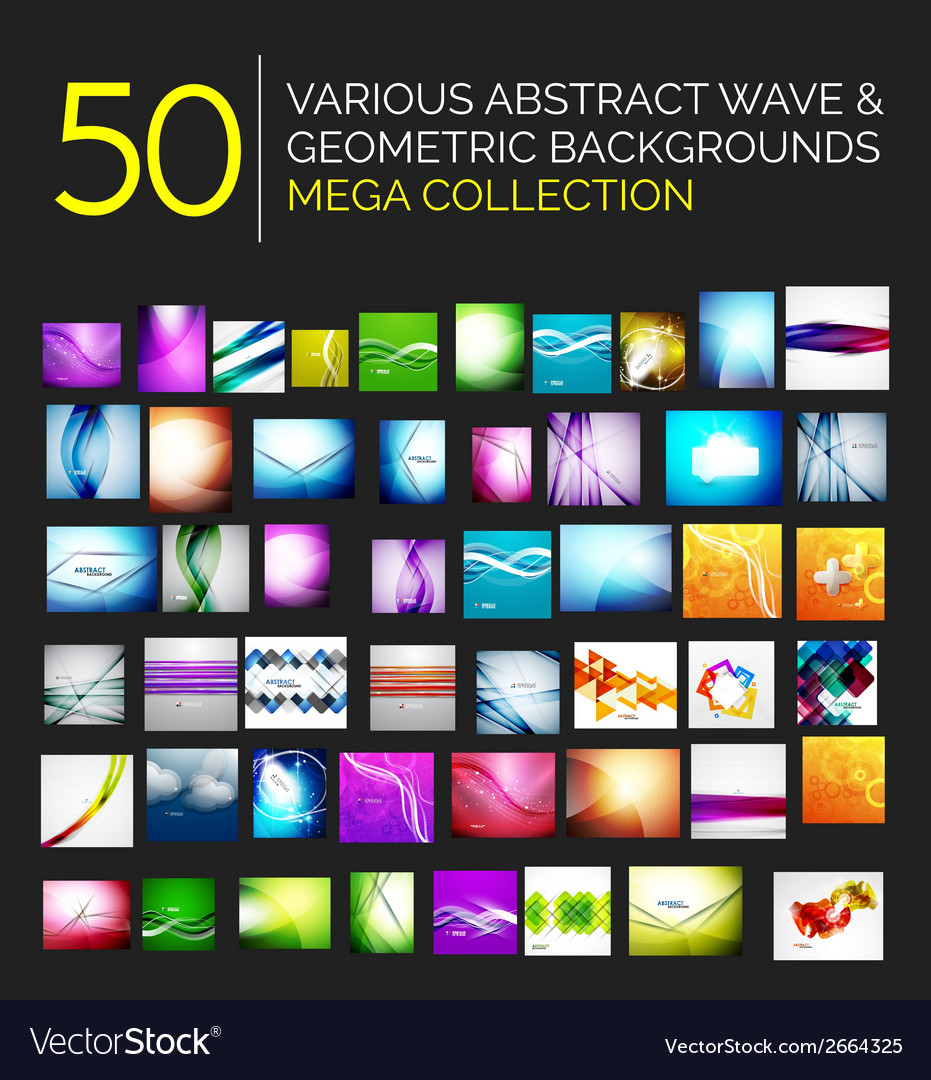 Abstract blurred waves and shiny designs set vector | Price: 1 Credit (USD $1)