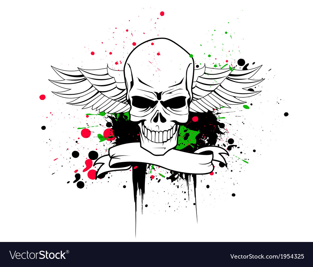 Artistic skull vector | Price: 1 Credit (USD $1)