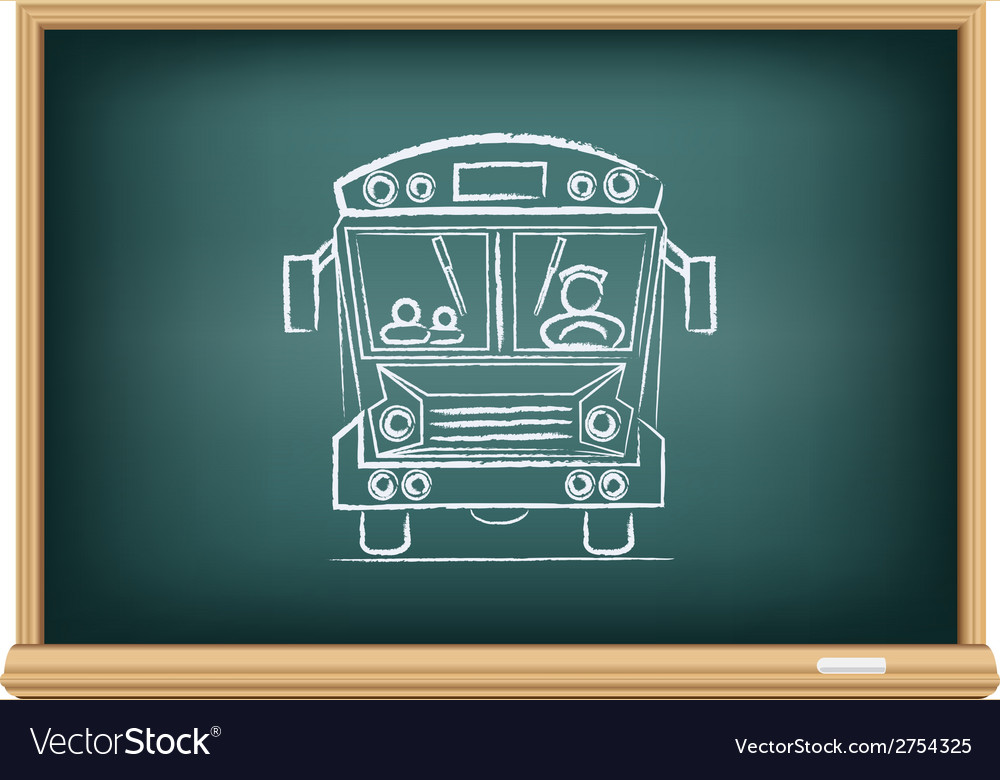 Board school bus vector | Price: 1 Credit (USD $1)