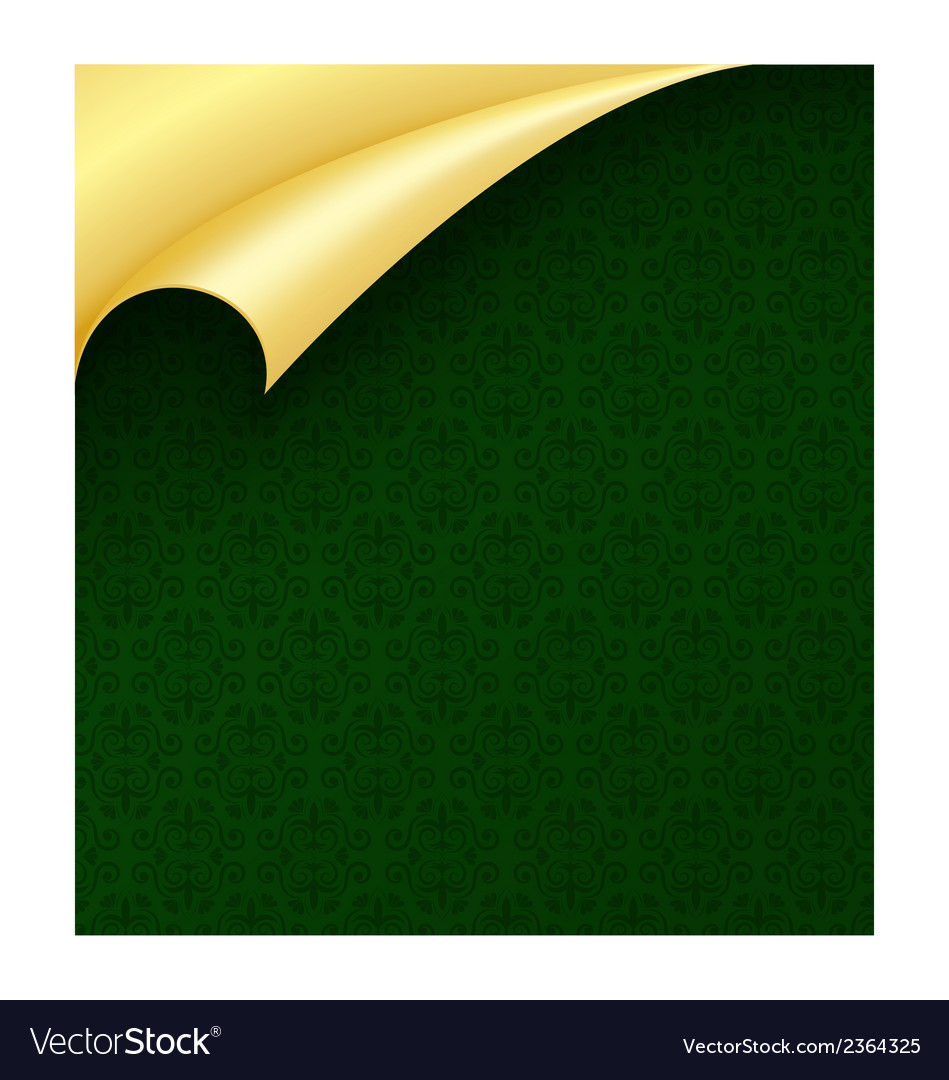 Dark green luxury wrapping paper with vintage vector   Price: 1 Credit (USD $1)