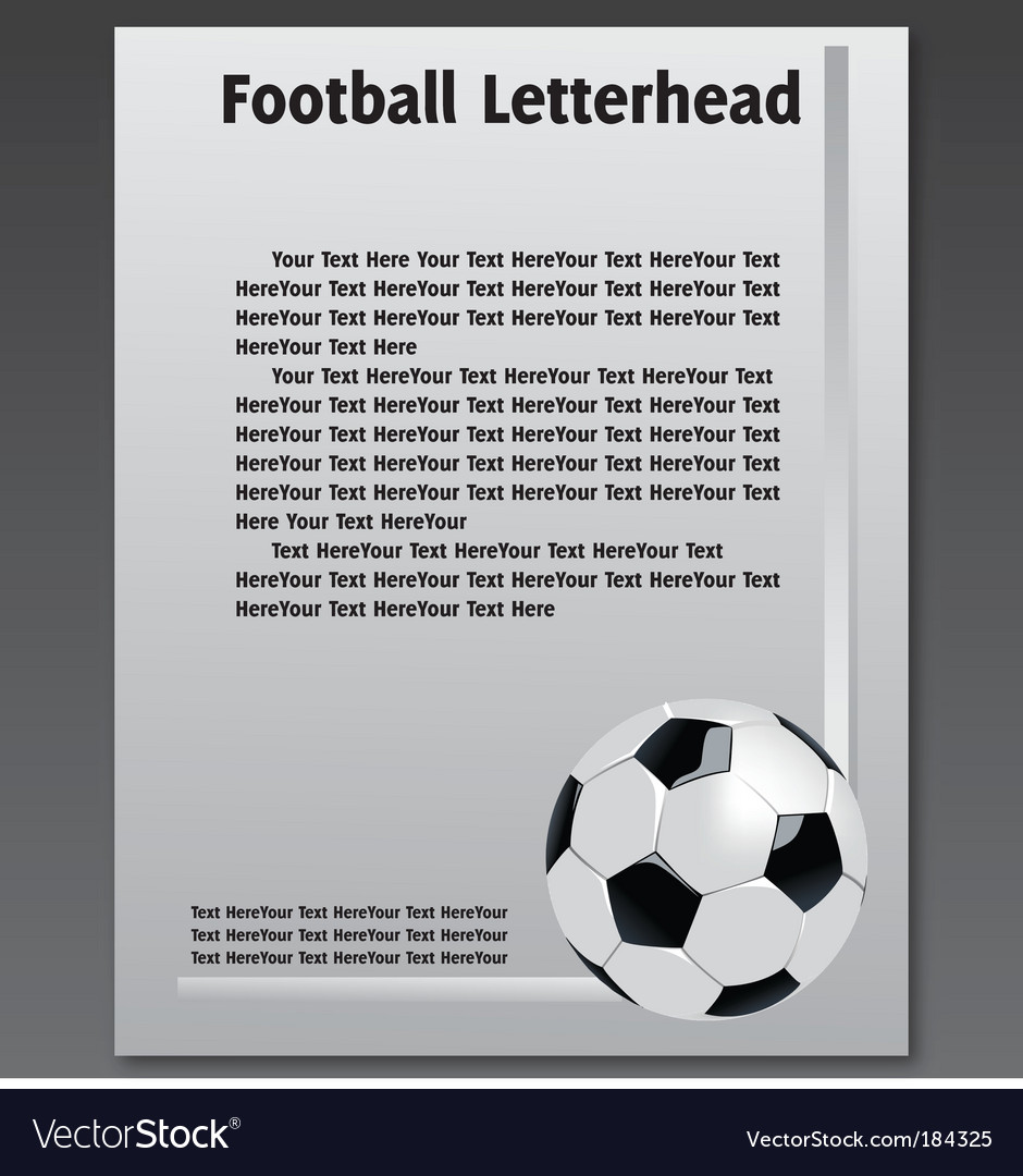 Football letterhead vector | Price: 1 Credit (USD $1)