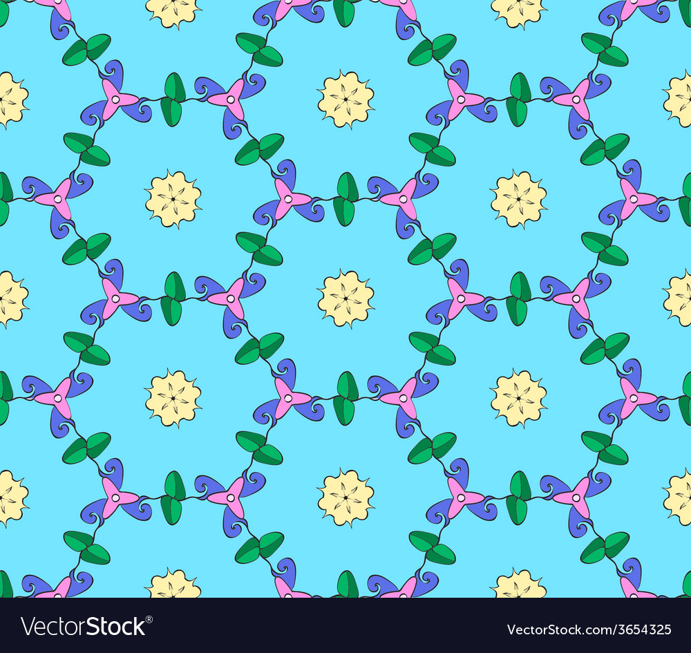Hand drawn folk ethnic ornamented seamless pattern vector | Price: 1 Credit (USD $1)