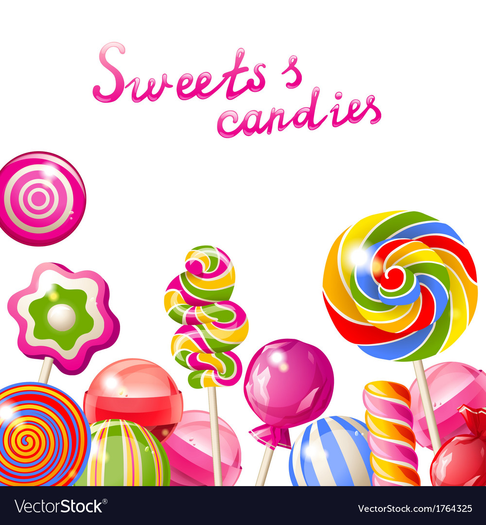 Lollipop background vector | Price: 1 Credit (USD $1)