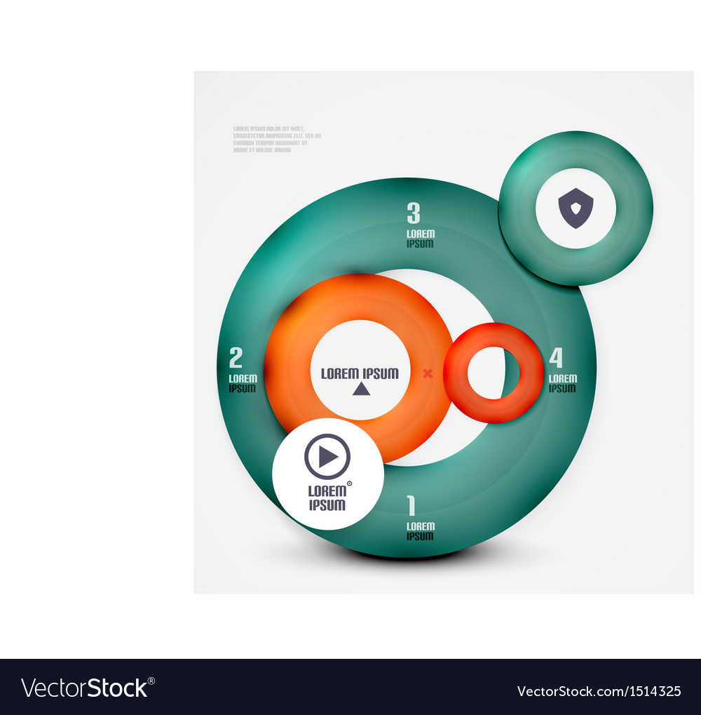 Modern circles infographic template vector | Price: 1 Credit (USD $1)